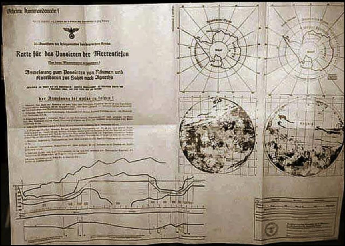 Nazi Antartica Map for Asgard and Agartha